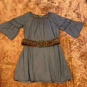 Democracy denim smocked collar dress, Size 1X